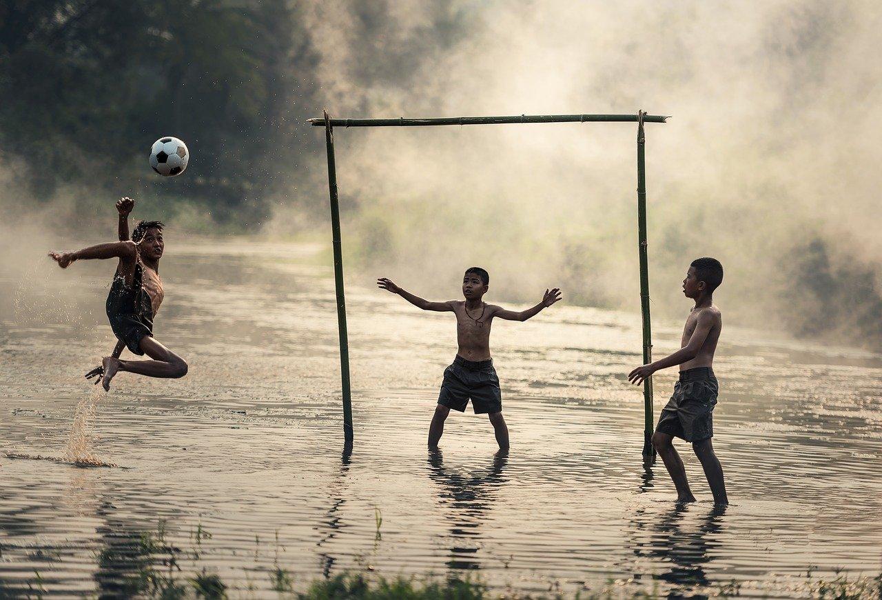 jump, ball, boys